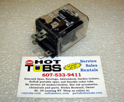 Dust Cover Relay 120 Volt, 25 Amp, DPST, .25 tab size