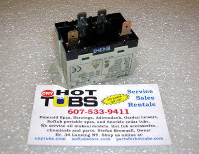 Enclosed Relay 120 Volt, 30 Amp, SPST, 4 tab