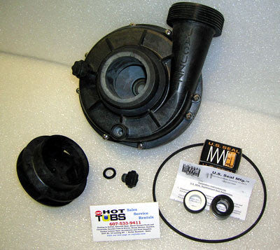 Pump Back Half for Jacuzzi Piranha Pump Head