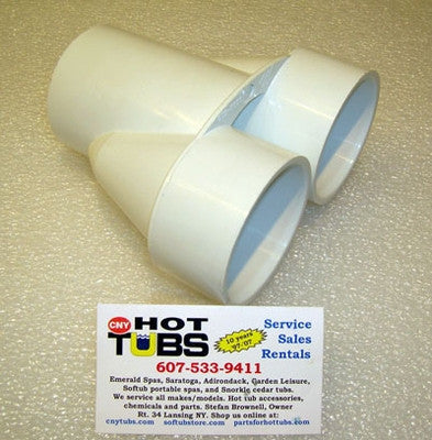 2 Inch To 2 Inch To 2 Inch Pvc Splitter Manifold