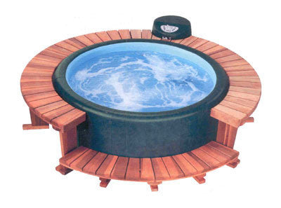 Softub Model T140, Redwood Sectional Decking Full Surround (Free shipping)