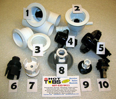 Waterway Adjustable Mini Jet Wall Fitting (#3 in PHOTO)