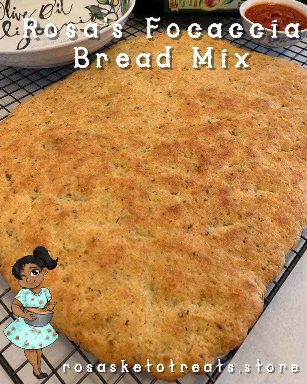 Rosa's Focaccia Bread Mix - Rosa's Keto Treats