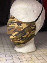 Load image into Gallery viewer, Camouflage Print Custom Made Cotton  Cloth Mask