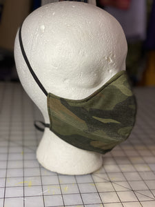 Camouflage Print Custom Made Cotton  Cloth Mask
