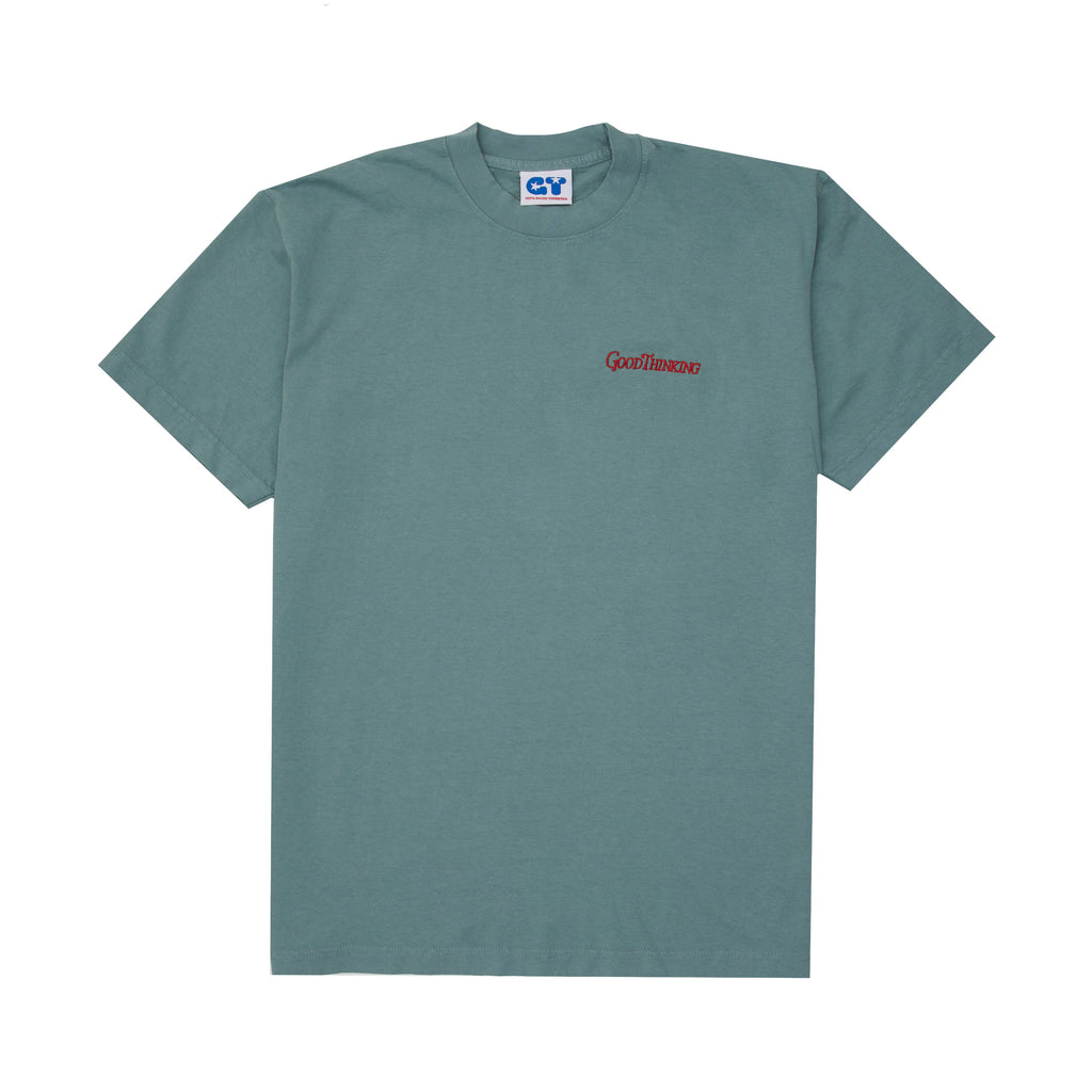 Embroidered Logo Tee - Atlantic Green