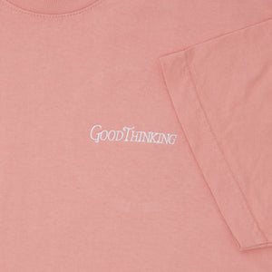 Embroidered Logo Tee - Coral