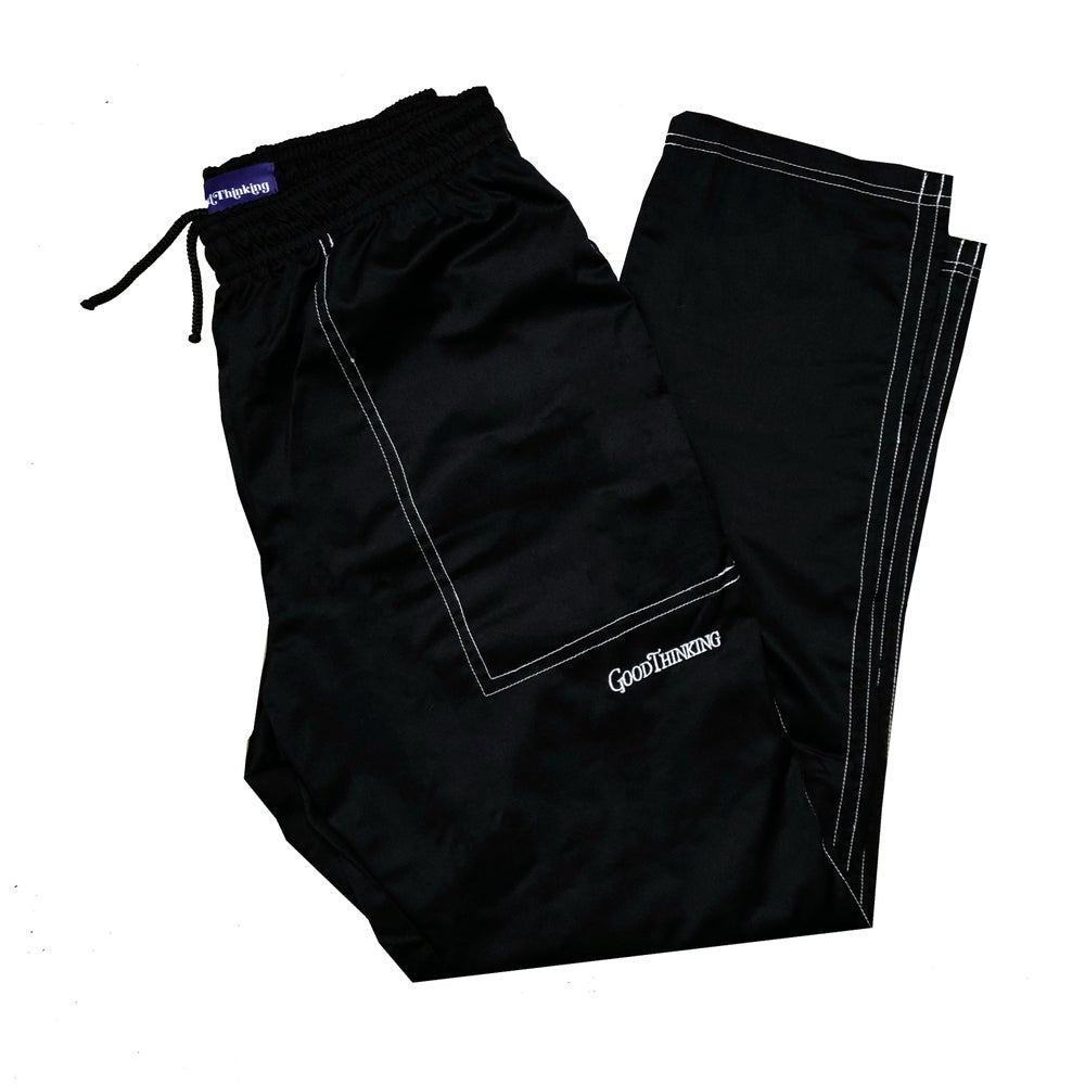 Black Contrast Stitch Lounge Pant