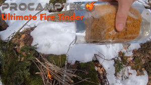 Ultimate Fire Tinder - Cold Water Saturation Test in Cold Weather Conditions