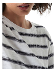 Gayle Long-Sleeve Tee - Navy/White Stripe