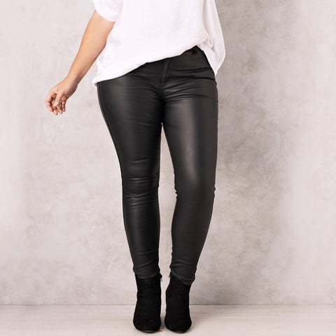 Amber Coated Jeans - Black