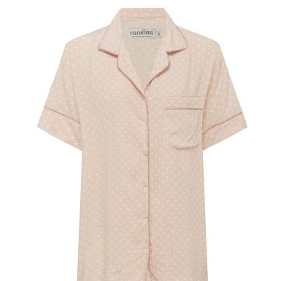 Paula Polka Dots Short Sleeve Pyjama Set Blush