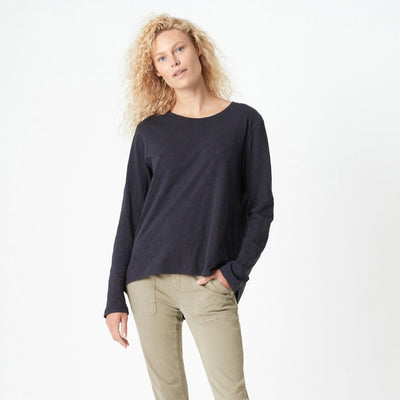 Gayle Long-Sleeve Tee - Navy