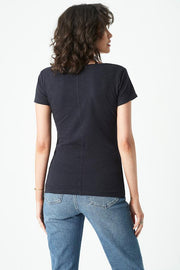 LUNA PLAIN V-NECK T-SHIRT NAVY