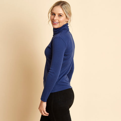 WOOLERINA Turtle Neck - Navy