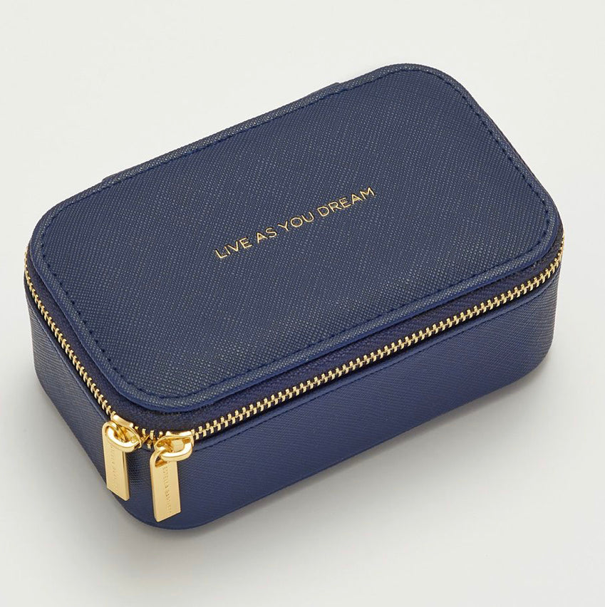 Live as you dream Navy Jewelry Box