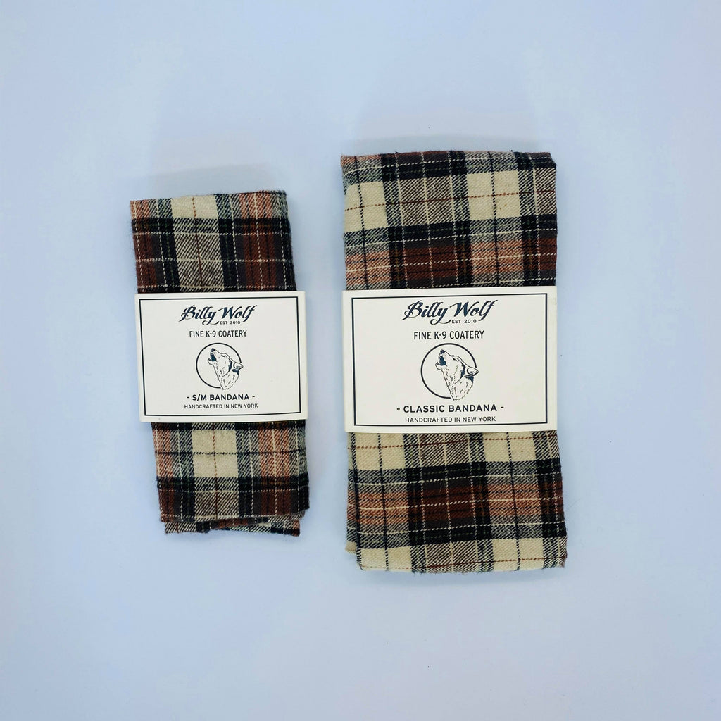Billy Wolf Plaid Dog Bandana