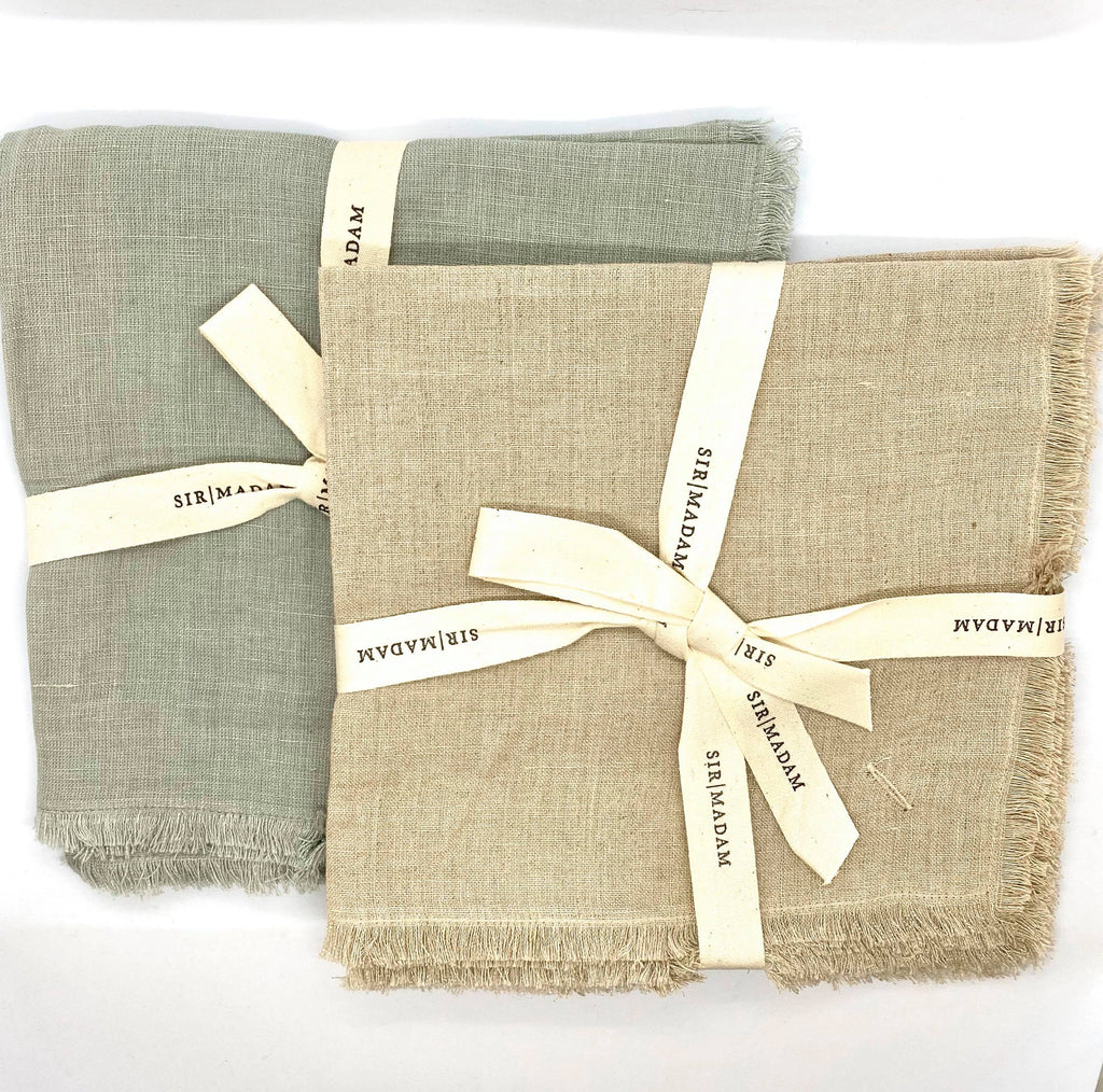 Cotton Linen Napkin Set of 4