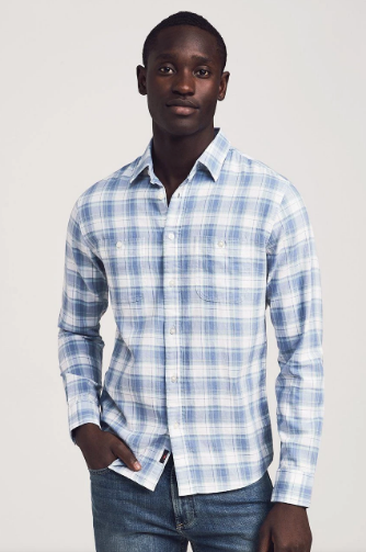 Beach Twill Shirt - Dune Plaid
