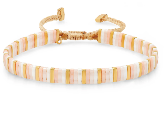 Candy Striper Bracelet - Pink/Peach