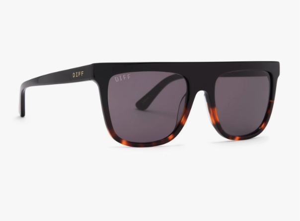 DIFF Sunglasses - Black Tortoise & Grey