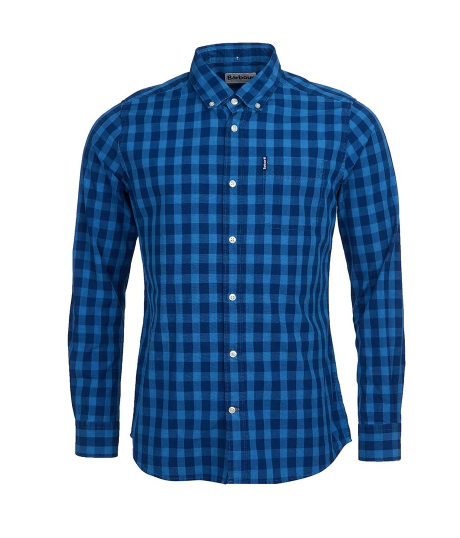 Barbour Indigio Dyed Check Shirt Men's