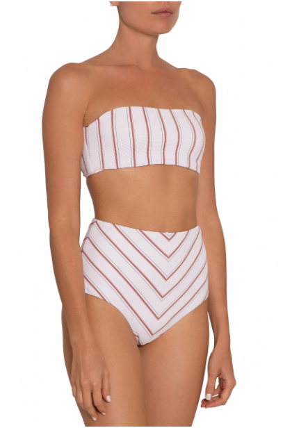 Eberjey Redwood Strip Bikini - High waisted