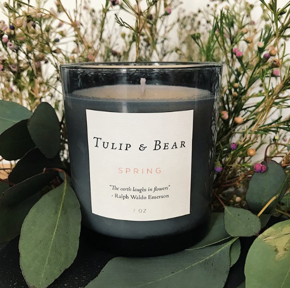 Tulip & Bear Spring Candle