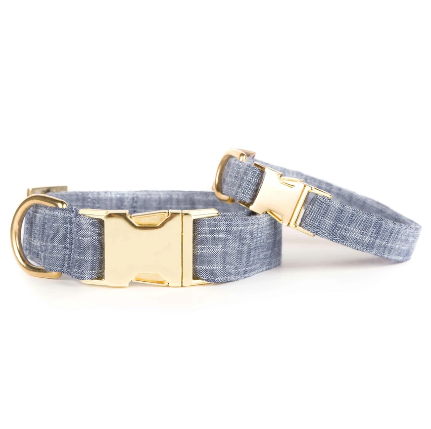 Chambray Dog Collar
