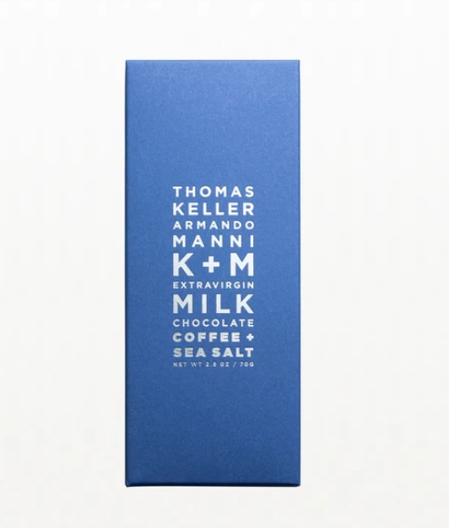 K+M Olive Oil & Coffee with Sea Salt Chocolate Bar - Ecuador