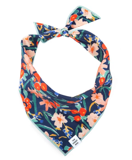 Inky Bloom Dog Bandana