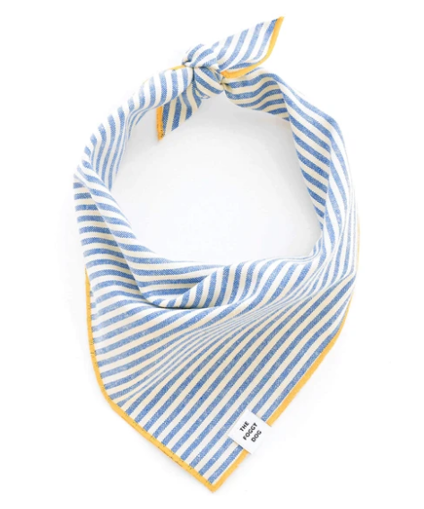 French Blue Stripe Bandana