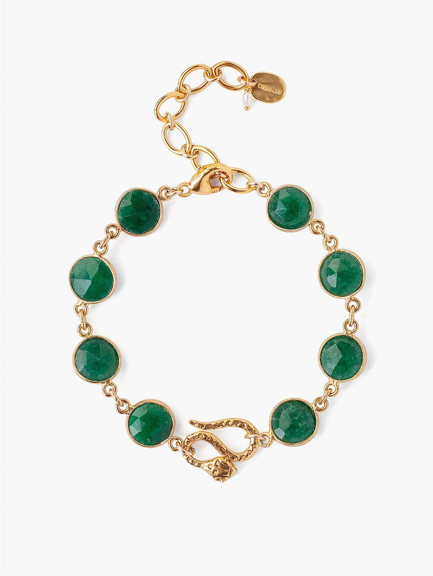 Indian Adventurine Gold Bracelet