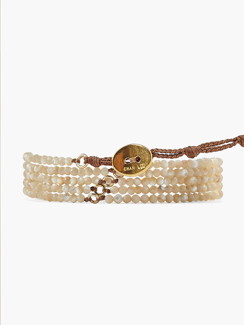 Mother of Pearl Naked Wrap Bracelet - Chan Luu