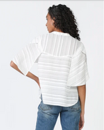 Cape Sleeve Striped Top