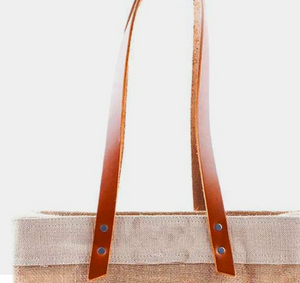 "Apolis Cold Spring Market Bag with 12"" Leather Handles"