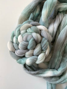 Mini Seafoam on Targhee Bamboo Silk