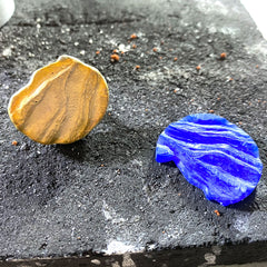 Wax carving and cast silver pendant