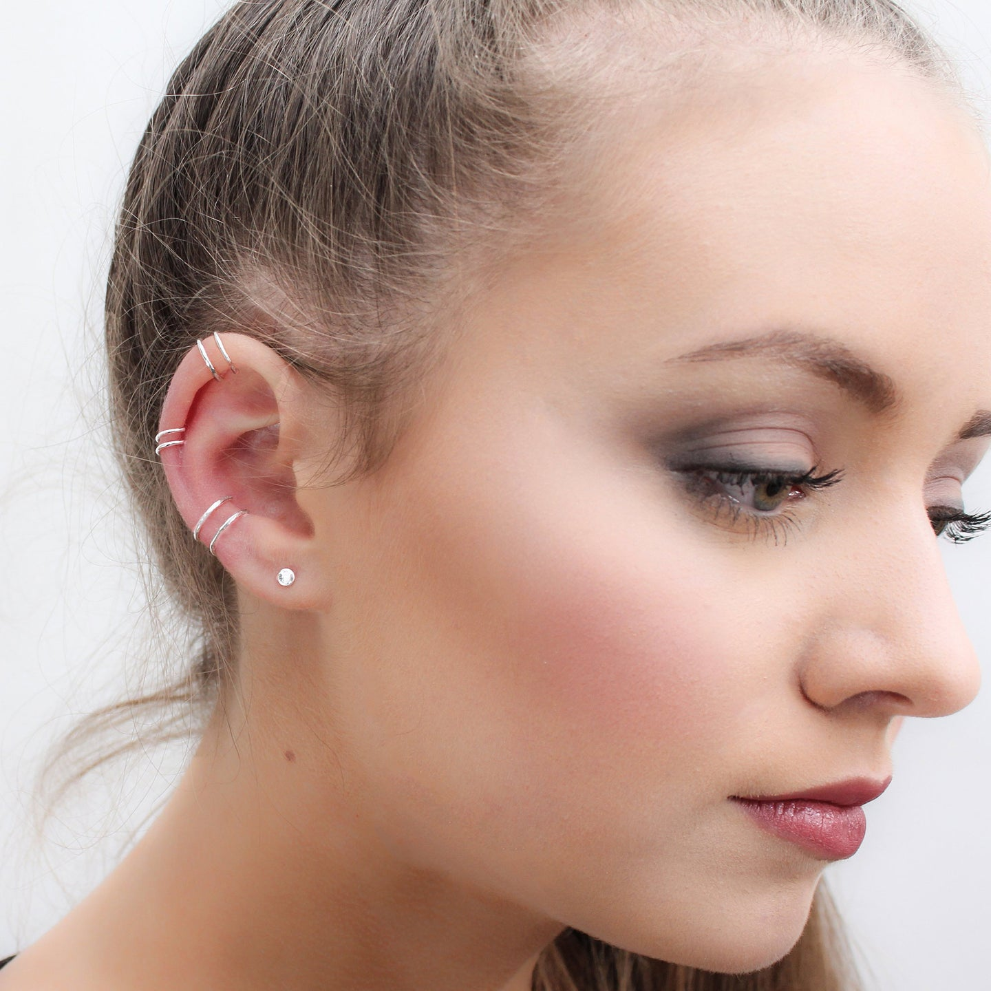 Double Ear Cuff- Faux Piercing