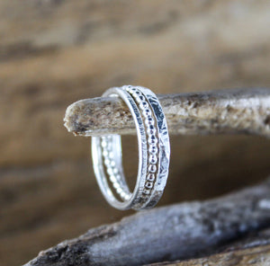 Multi-Textured Stacking Rings