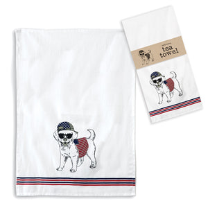 American Dog Tea Towel, Set of 4