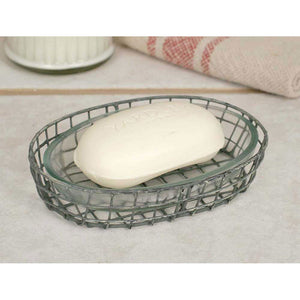 Oval Soap Dish with Glass Liner, Set of 4