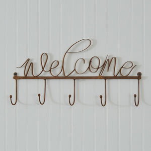 Copper Finish Welcome Hook Rack
