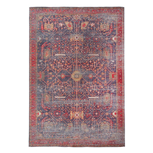 5' x 8' Distressed Print Cotton Chenille Rug