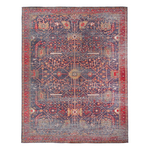 8' x 10' Distressed Print Cotton Chenille Rug
