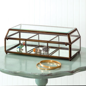 Divided Antique Mirrored Trinket Box