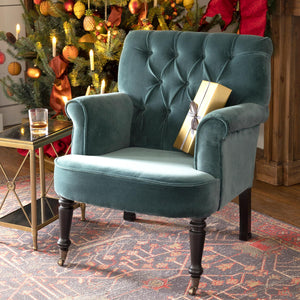 Elaine Cotton Velvet Upholstered Arm Chair