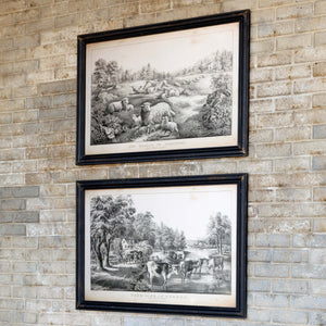 Farm-Life Framed Prints, Set of 2