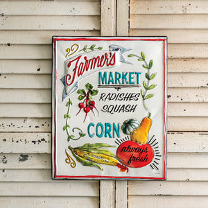 Farmers Market Metal Sign