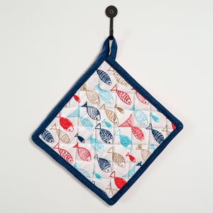 Fish in the Sea Pot Holder, Set of 4